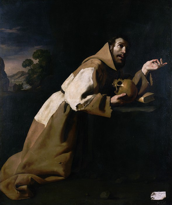 Francisco de Zurbaran - Saint Francis in Meditation. Part 2 National Gallery UK
