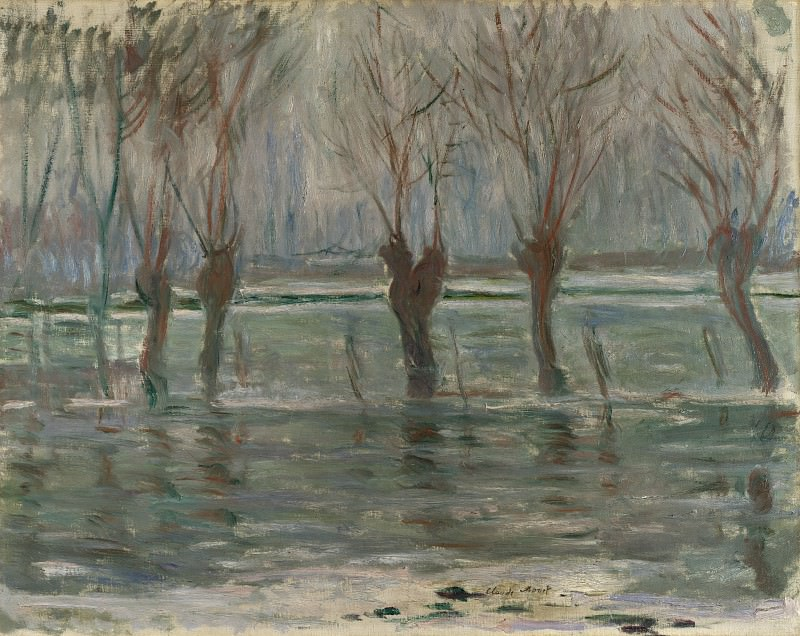 Claude-Oscar Monet - Flood Waters. Part 2 National Gallery UK