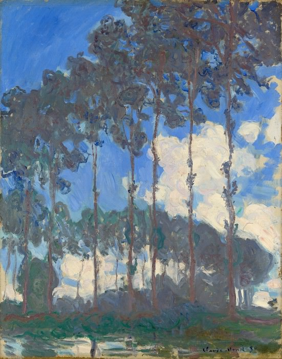 Claude-Oscar Monet - Poplars on the Epte. Part 2 National Gallery UK