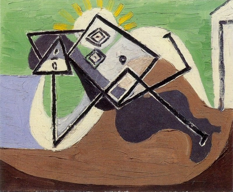 1932 Femme Вtendue au soleil sur la plage II. Пабло Пикассо (1881-1973) Период: 1931-1942