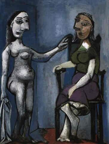 1939 Nu debout et femme assise 3. Pablo Picasso (1881-1973) Period of creation: 1931-1942