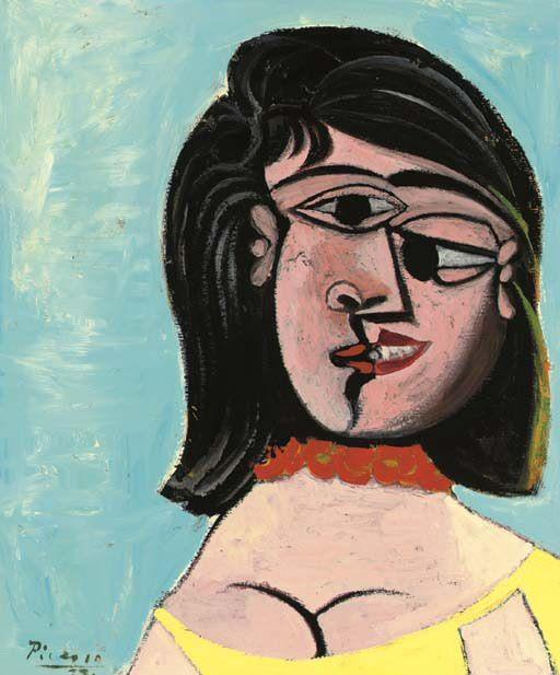 1937 TИte de femme (Dora Maar). Пабло Пикассо (1881-1973) Период: 1931-1942