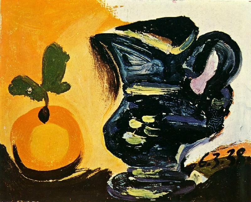 1938 Nature morte au pichet. Пабло Пикассо (1881-1973) Период: 1931-1942