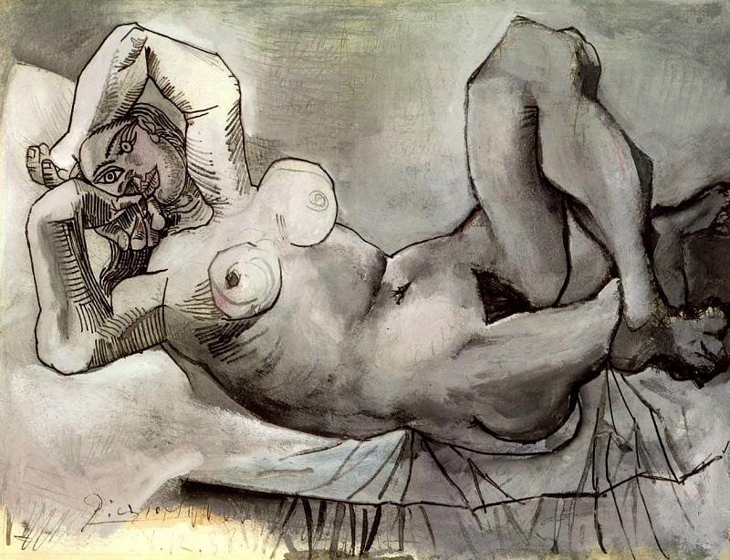 1938 Femme couchВe (Dora Maar). Пабло Пикассо (1881-1973) Период: 1931-1942