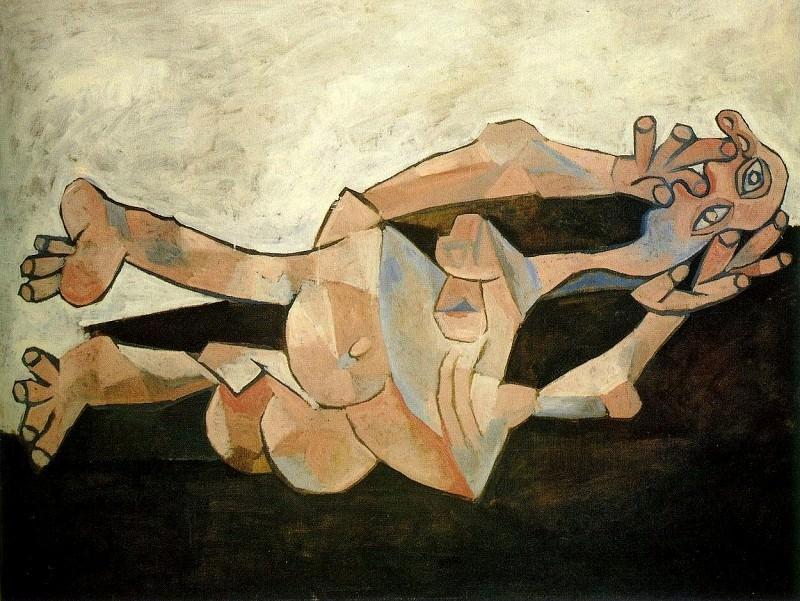 1938 Femme couchВe sur fond cachou. Pablo Picasso (1881-1973) Period of creation: 1931-1942