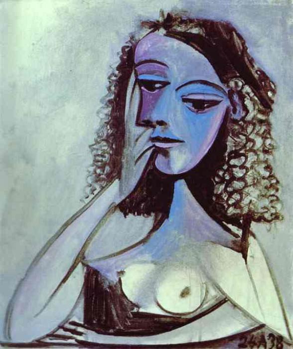 1938 Nusch Eluard. Pablo Picasso (1881-1973) Period of creation: 1931-1942