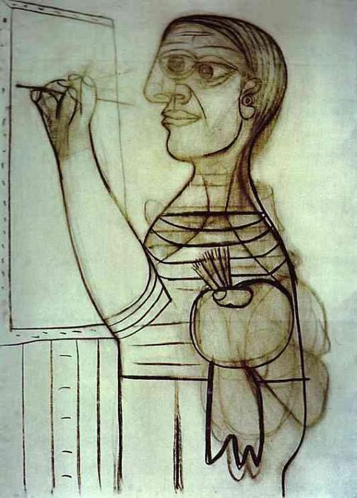1938 Lartiste devant sa toile. Pablo Picasso (1881-1973) Period of creation: 1931-1942