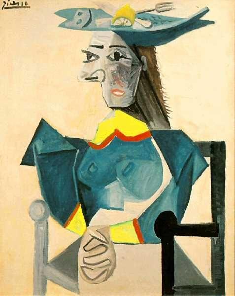 1942 Femme assise au chapeau-poisson. Pablo Picasso (1881-1973) Period of creation: 1931-1942