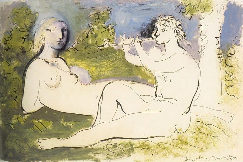 1932 Joueur de flЦte et nu couchВ. Pablo Picasso (1881-1973) Period of creation: 1931-1942