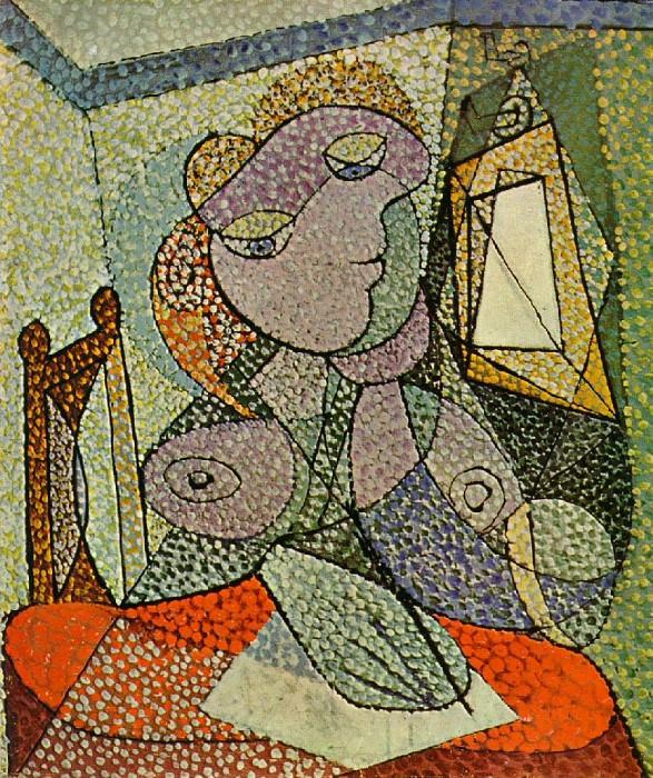 1936 Femme Вcrivant une lettre. Pablo Picasso (1881-1973) Period of creation: 1931-1942 (Portrait de femme)