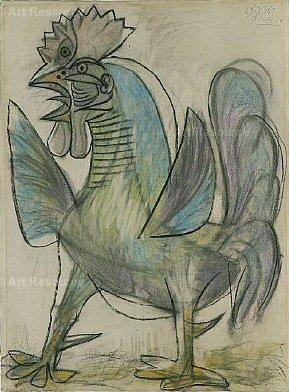 1938 Le coq 2. Pablo Picasso (1881-1973) Period of creation: 1931-1942