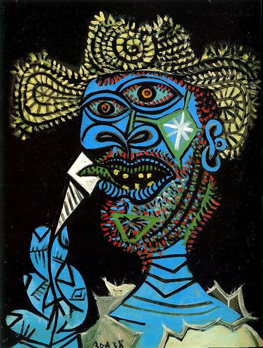 1938 Homme au chapeau de paille et au cornet de glace 1. Пабло Пикассо (1881-1973) Период: 1931-1942