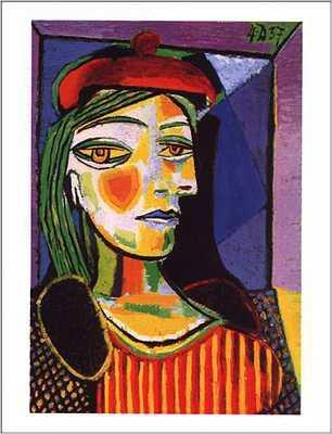 1937 Femme au beret rouge. Pablo Picasso (1881-1973) Period of creation: 1931-1942