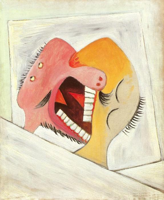 1931 Le baiser (Deux tИtes). Pablo Picasso (1881-1973) Period of creation: 1931-1942
