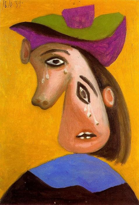 1939 TИte de femme en pleurs. Пабло Пикассо (1881-1973) Период: 1931-1942