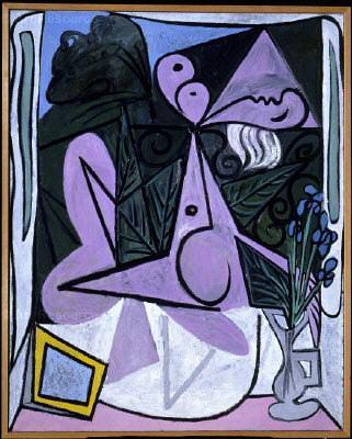 1934 Nu au bouquet diris et au miroir. Pablo Picasso (1881-1973) Period of creation: 1931-1942