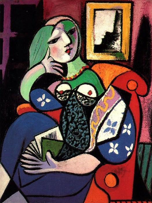 1932 Femme tenant un livre (Marie-Thérèse Walter). Пабло Пикассо (1881-1973) Период: 1931-1942