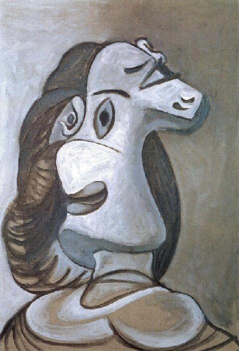 1941 TИte de femme. Pablo Picasso (1881-1973) Period of creation: 1931-1942