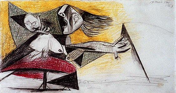 1937 Guernica III. Пабло Пикассо (1881-1973) Период: 1931-1942 (Рtude)