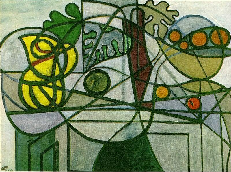 1931 Pichet, coupe de fruits et feuillage. Pablo Picasso (1881-1973) Period of creation: 1931-1942