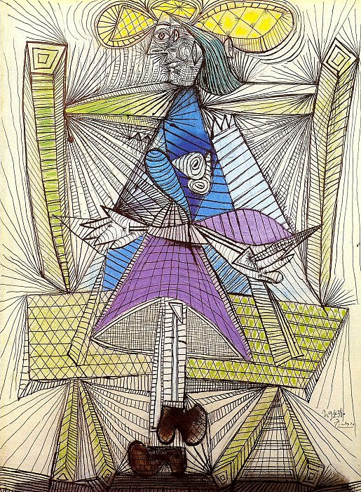 1938 Femme assise (Dora Maar). Pablo Picasso (1881-1973) Period of creation: 1931-1942