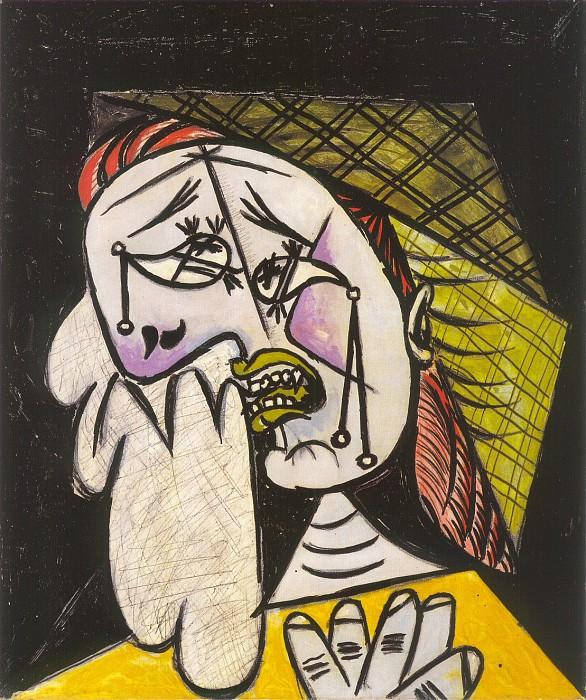 1937 La femme qui pleure au foulard 4. Пабло Пикассо (1881-1973) Период: 1931-1942
