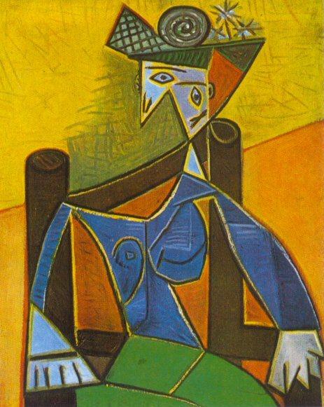 1941 Femme assise dans un fauteuil 4. Pablo Picasso (1881-1973) Period of creation: 1931-1942