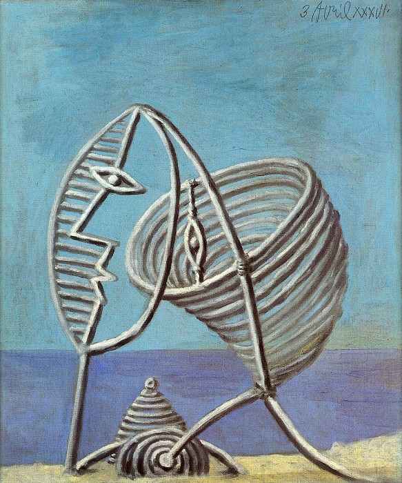 1936 Portrait de jeune fille 1. Pablo Picasso (1881-1973) Period of creation: 1931-1942