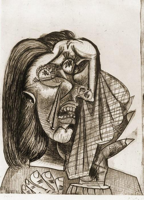1937 La femme qui pleure I (VI). Пабло Пикассо (1881-1973) Период: 1931-1942