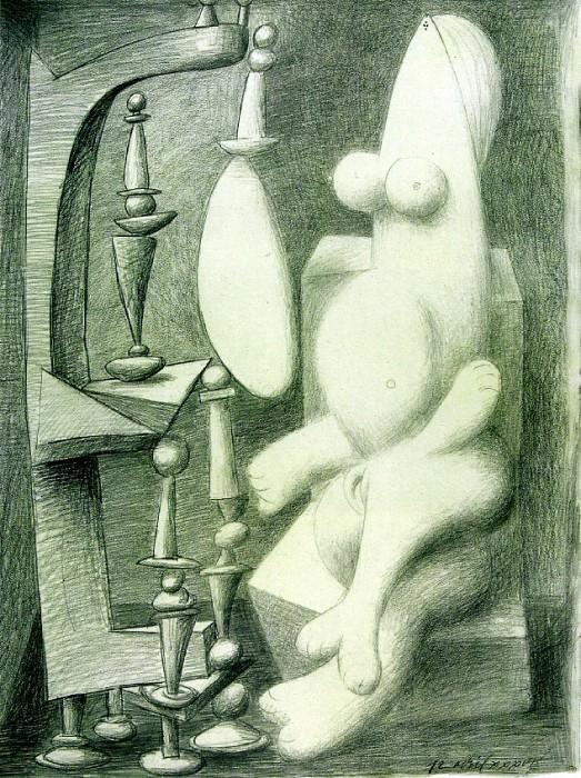 1936 Nu devant un dressoir. Pablo Picasso (1881-1973) Period of creation: 1931-1942