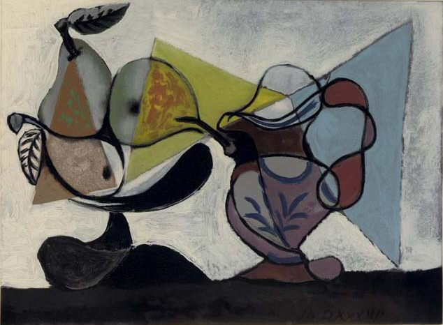 1936 Nature morte aux fruits. Pablo Picasso (1881-1973) Period of creation: 1931-1942