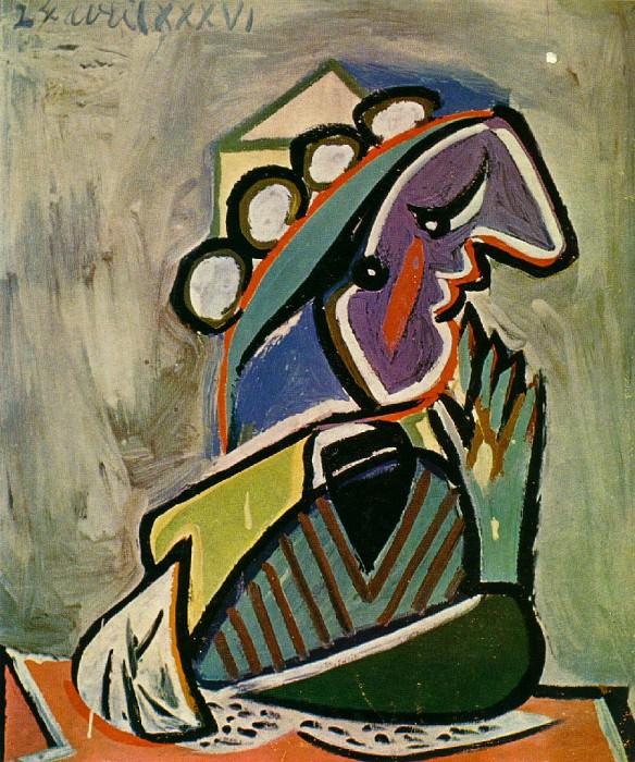 1936 Portrait de femme de profil. Pablo Picasso (1881-1973) Period of creation: 1931-1942
