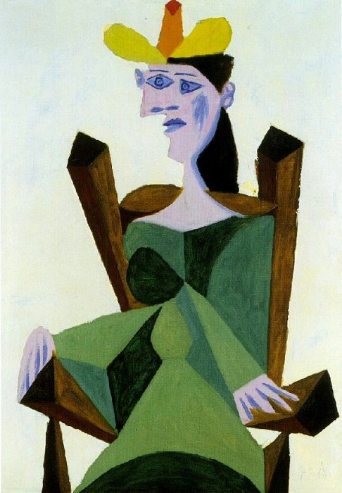 1939 Femme assise sur une chaise. Pablo Picasso (1881-1973) Period of creation: 1931-1942