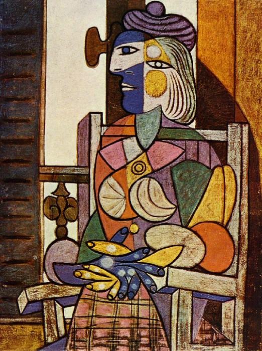 1937 Femme assise devant la fenИtre (Marie-ThВrКse). Pablo Picasso (1881-1973) Period of creation: 1931-1942