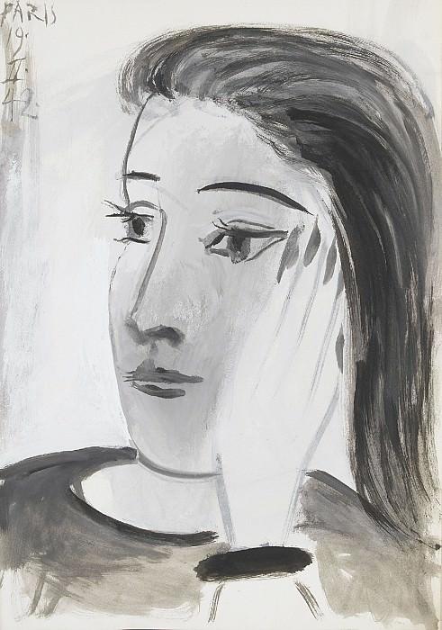 1942 Portrait de Dora Maar 1. Пабло Пикассо (1881-1973) Период: 1931-1942