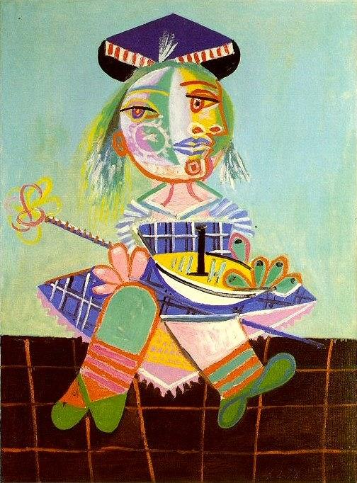 1938 Maya Е deux ans et demi avec un bateau. Pablo Picasso (1881-1973) Period of creation: 1931-1942