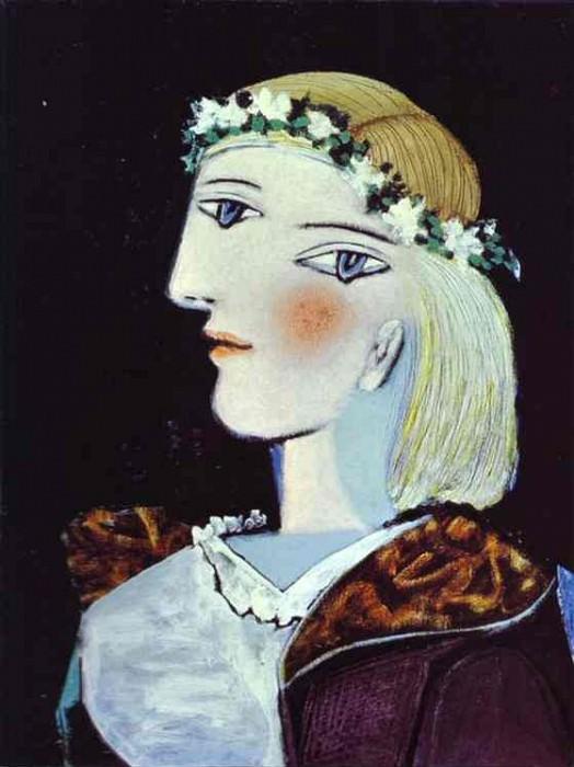 1937 Portrait de Marie-ThВrКse Walter Е la guirlande. Pablo Picasso (1881-1973) Period of creation: 1931-1942