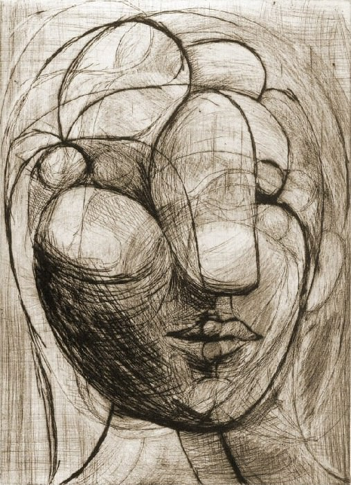 1933 TИte de femme. Pablo Picasso (1881-1973) Period of creation: 1931-1942