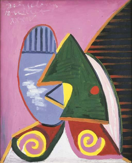 1934 Profil Е la fenИtre. Пабло Пикассо (1881-1973) Период: 1931-1942