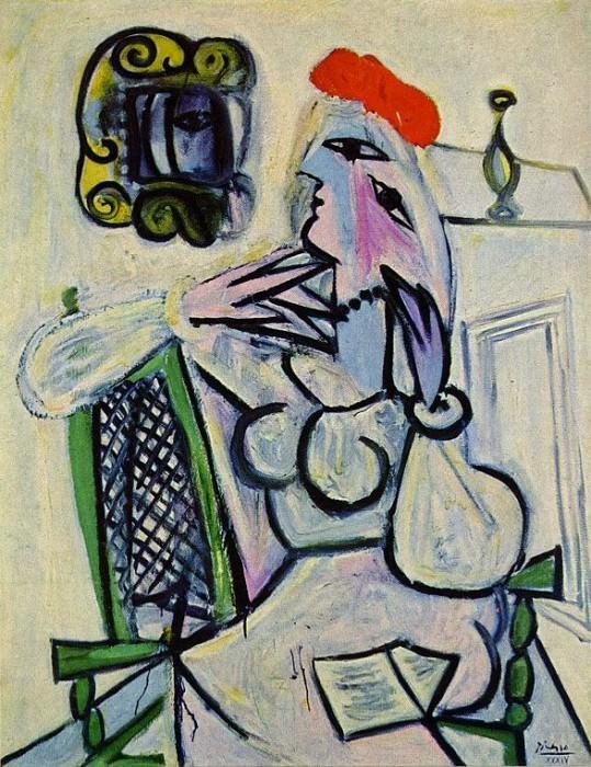 1934 Femme assise au chapeau rouge. Pablo Picasso (1881-1973) Period of creation: 1931-1942