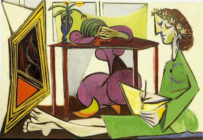 1935 Deux femmes (Jeune fille dessinant dans un intВrieur). Пабло Пикассо (1881-1973) Период: 1931-1942