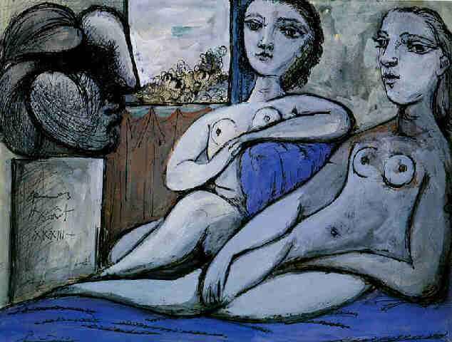 1933 Deux nus fВminins et tИte de femme. Pablo Picasso (1881-1973) Period of creation: 1931-1942