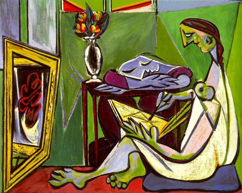 1935 La muse. Pablo Picasso (1881-1973) Period of creation: 1931-1942 (Jeune femme dessinant dans un intВrieur)