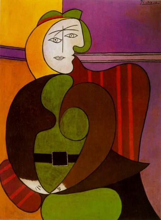 1931 Le fauteuil rouge. Pablo Picasso (1881-1973) Period of creation: 1931-1942