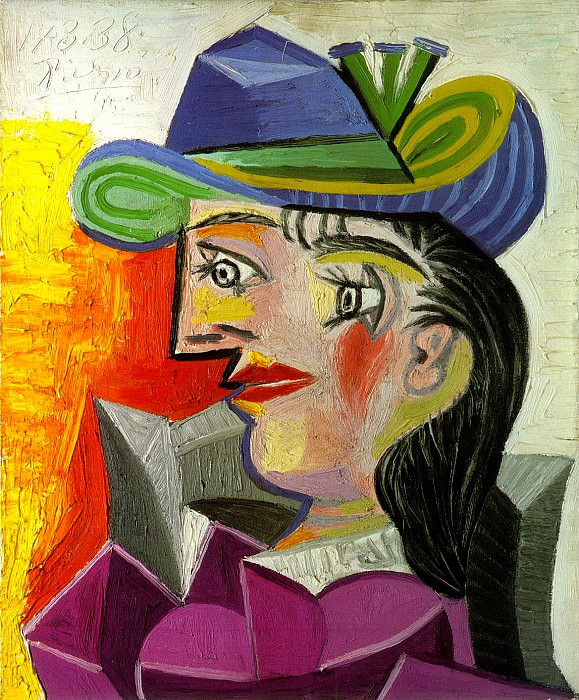 1938 Femme au chapeau bleu. Pablo Picasso (1881-1973) Period of creation: 1931-1942