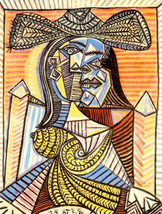 1938 Femme assise 4. Pablo Picasso (1881-1973) Period of creation: 1931-1942