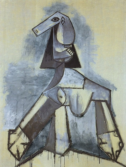 1941 Femme en gris et blanc. Pablo Picasso (1881-1973) Period of creation: 1931-1942
