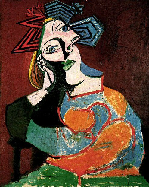 1939 Femme accoudВe. Pablo Picasso (1881-1973) Period of creation: 1931-1942
