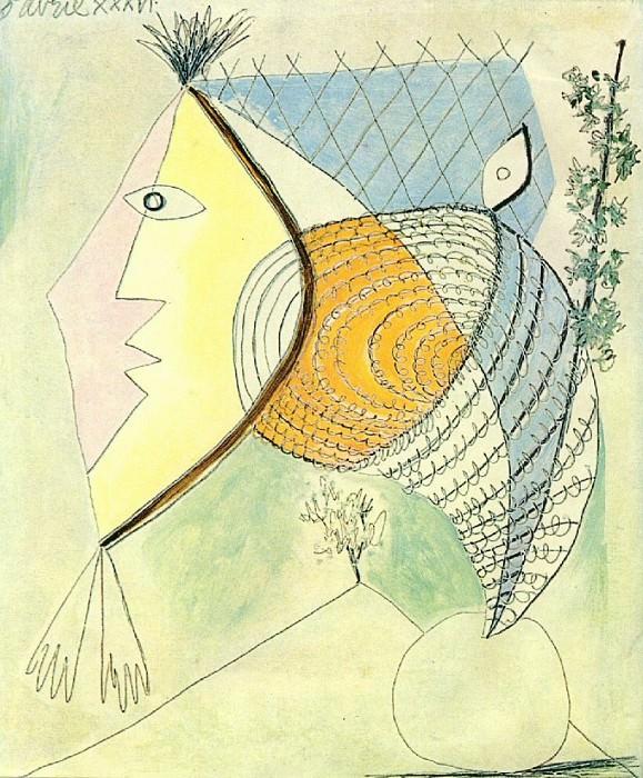 1936 Personnage au coquillage. Pablo Picasso (1881-1973) Period of creation: 1931-1942 (TИte de femme)