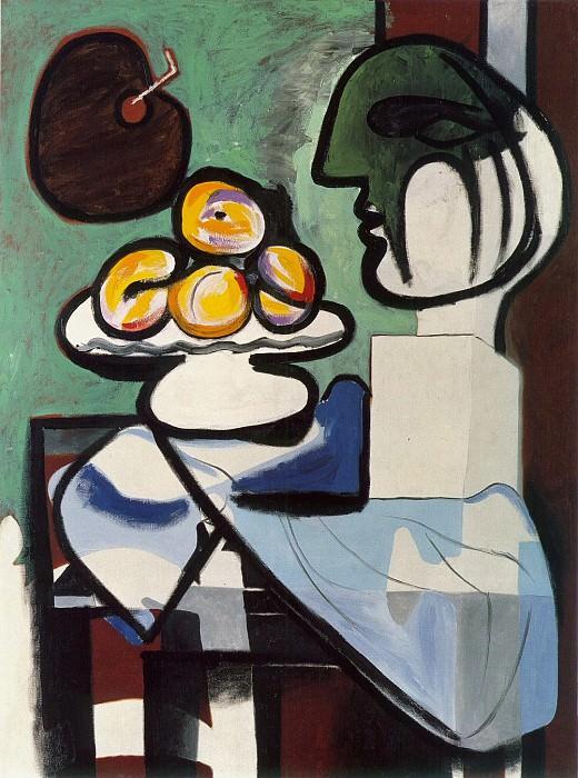 1932 Nature morte- Buste, coupe et palette. Pablo Picasso (1881-1973) Period of creation: 1931-1942